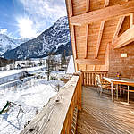 Appartement Penthouse Mountain View Balkon © AAA Appartements